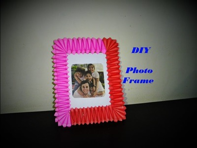 DIY | How to make Photo Frame | Cardboard & Colorful Paper Photo Frame | Best out of waste