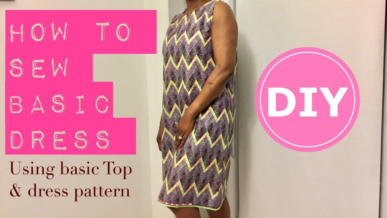 DIY HOW TO SEW A DRESS USING SIMPLE TOP PATTERN - PrettyTallLifeTV