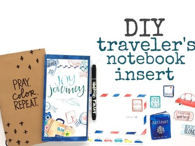 DIY JOURNAL USING NEW PRINT & PRAY JOY IN THE JOURNEY KITS!