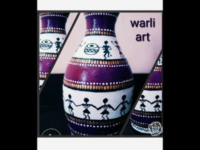 DIY, learn to paint terracotta pot beautifully with warli art.