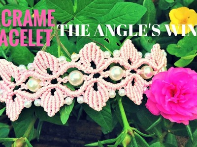 DIY macrame bracelet - the wings of angel - easy tutorial by tita