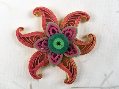 DIY Paper Quilling Tutorial: How To Make Paisley Pattern | Quilled Sunflower