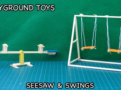 DIY Playground Toys - Seesaw & Swing | Popsicle Stick Crafts