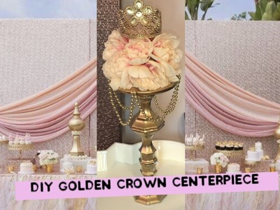 DIY Princess Baby Shower Party Centerpiece