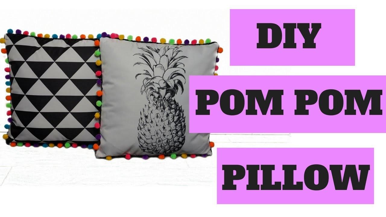 DIY SUMMER ROOM DECOR | POM POM PILLOWS