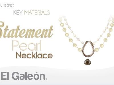 Fashion Topic El Galeón Statement Pearl Necklace (Collar con Perlas)