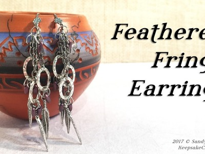 Feathered Fringe Boho Gypsy Earrings Jewelry Tutorial
