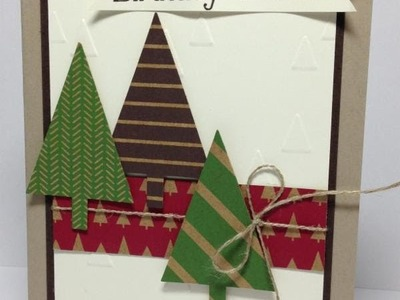 Festival of Trees Stampin Up Online Card Class 6 of 6