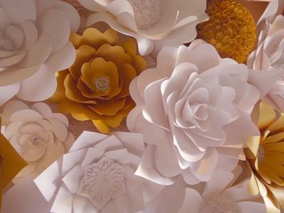 Flower Backdrop wall by Mahi Rehan  - www.mahirehan.com, @mahirehanllc