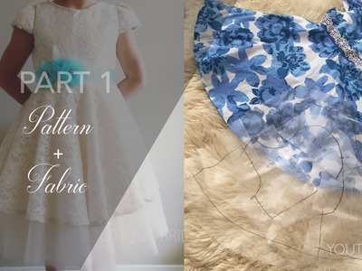 Flower Girl Dress Part 1 : PATTERN from existing dress+ FABRICS {TANYA}