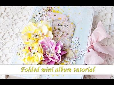 Folded mini album in a box - tutorial by Ola Khomenok (for Scrap & Craft)