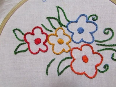 Hand Embroidery-  Chain Stitch Tutorial