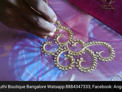 Hand Embroidery designs by Angalakruthi boutique Bangalore