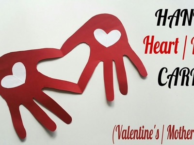 Hand Heart | Love Card for Valentine's | Mother's Day - DIY Tutorial by Paper Folds - 727