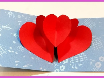 Heart Pop Up Card   How To Make Heart Pop Up Card   Rosie DIY