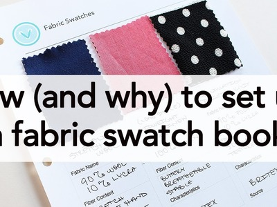 How (and Why!) to set up a Fabric Swatch Book! | Vintage on Tap