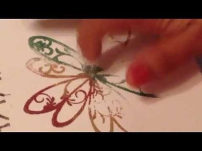 How I Finger Paint with Rubber Cafe Glitter!