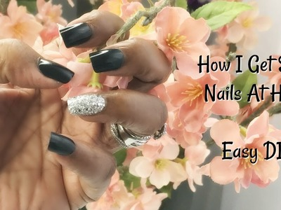 How I Get Salon Nails At Home Easy DIY HACK ????????