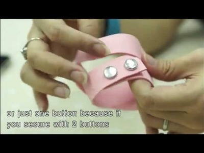 How to apply a Swarovski Crystal Snap Button or Snap Fastener using cheap tool