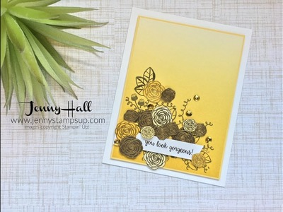 How to create a design placement using Stampin Up products with Jenny Hall