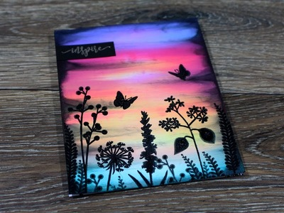 How to Create Scenic Sunset Cards