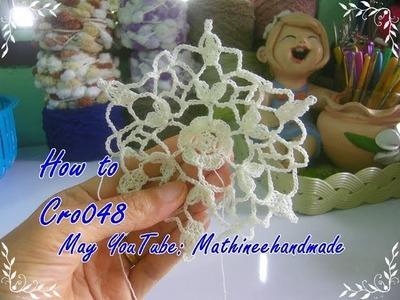 How to Cro048 Crochet pattern. ถักผังลายโครเชต์ ลายหกเหลี่ยม _ Mathineehandmade