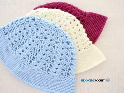 How to Crochet a Sun Hat Left Handed