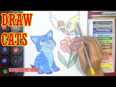 How to Draw Cats coloring pages - Super Coloring #12