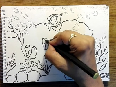 How to draw underwater world - Another easy tutorial for kids