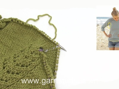 How to knit the increase tip in DROPS 175-1