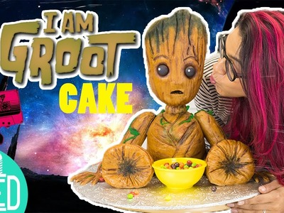 How to make a BABY GROOT Structure Cake | Guardians of the Galaxy Vol 2 | Marvel.Disney Party Ideas