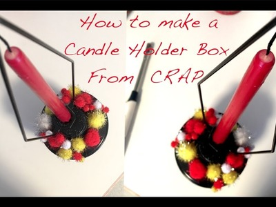 How To Make a Candle Holder Box | Easy DIY Hacks | Craft ideas for broken.unwanted stuff
