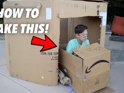 How To Make A Drivable Cardboard Box (Hoverboard, Swegway)
