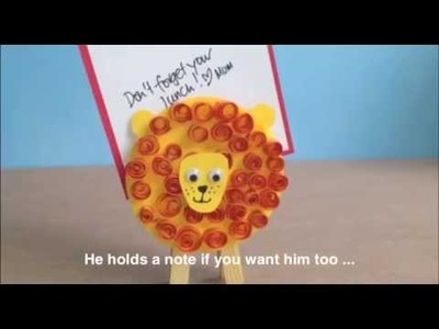 How to Make a peg lion noteholder