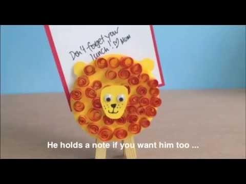 How to Make a peg lion noteholder