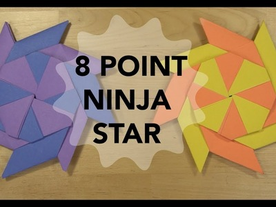 How to make an 8 Point Ninja Star that TRANSFORMS!! Simple Origami