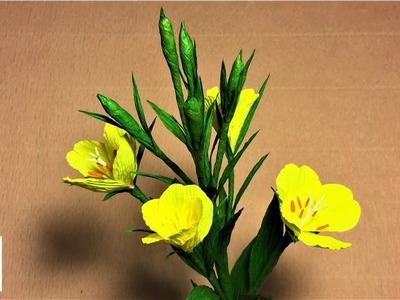 How to make  easy origami  flower paper | DIY crepe paper flower making tutorials