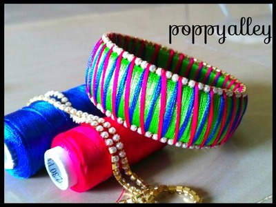 How to make Multi color silk thread bangles at home