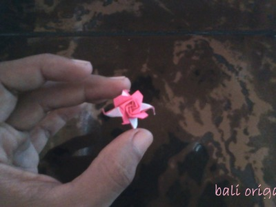 How to make Origami flower rose ( Origami Rose )