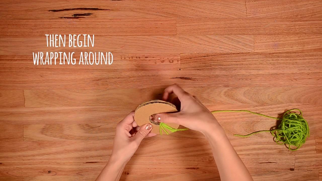 'How To Make' Pompom cushion