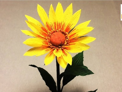 How to make rudbeckia paper flower| DIY rudbeckia crepe paper flower making tutorials