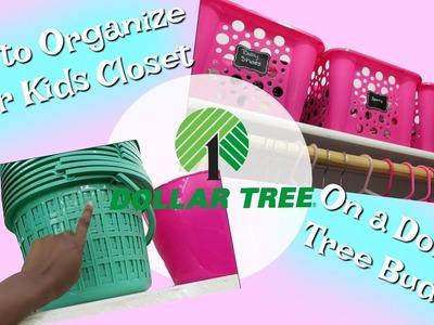How to Organize Your Kids Closet on a Dollar Tree Budget || Damari's Closet