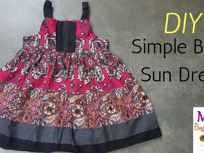 How to Sew Baby Sundress - Facebook Live
