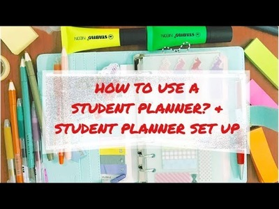 How To Use A Student Planner + Student Planner Set Up | Back to School Organization 2017 ✔