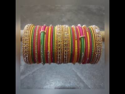 Latest thread bangles and hanging wedding collection
