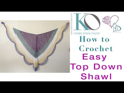 LEFT HAND Lacy Cake Easy Crochet Shawl Top Down Triangle Shawl