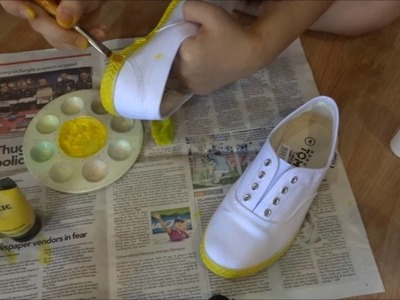 Len Kagamine Cosplay Worklog 2 | Shoe Painting