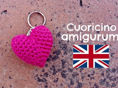 Little Heart keychain amigurumi | World Of Amigurumi