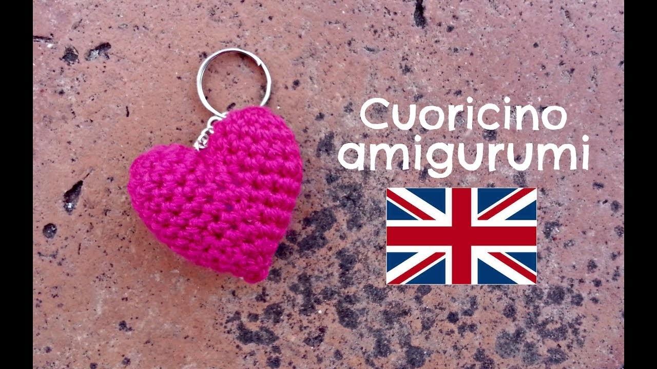 Little Heart keychain amigurumi   World Of Amigurumi