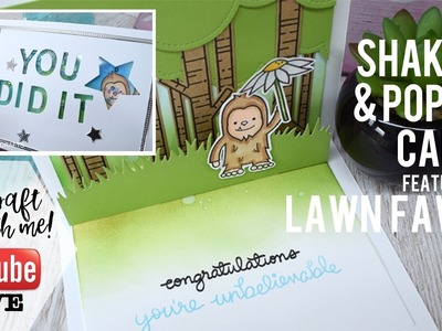 Live Crafting with Lesley Oman - Big Foot Pop-up Card - Lawn Fawn